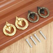 2pcs Fashion Drawer Cabinet Knobs Ring Furniture Jewelry Box Door Pull Handles