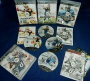 Lot Of 4 Ps3 Ea Sports Madden Nfl 11, 13, And 25-all W/ Manual, Madden Nfl 15, Vg