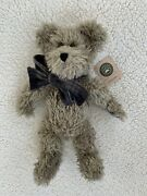 Boyds Bears Kemper Forbes 51102-03 Plush Gray Bear With Plaid Neck Bow