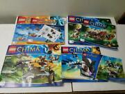 6 Lego Instruction Booklet Lot Chima 700037000570006 7014570107 + Decals