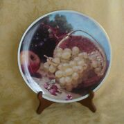 Lenox Commemorative Plate Grapes From The Painting Of Eliose Harriet Stannard