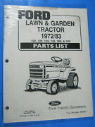 Ford Lawn Garden 100 120 125 145 165 195 Tractor Parts List Catalog Oem