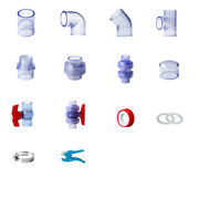 Clear Pvc 40mm Id Pressure Pipe And Fittings Metric Solvent Weld Various Parts