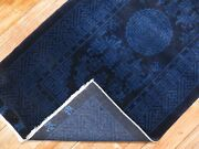 Antique Inscribed Chinese Peking Rug Size 2'7''x5'1''
