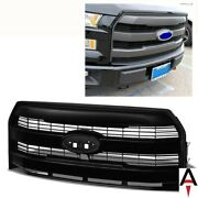 For Ford 15-17 F150 F-150 King Ranch Style Matte Black Abs Plastic Grille Grill