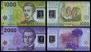Chile 1000-2000 Pesos 2012aa Prefix And Low 2 Digit S/n Match S/n Polymer