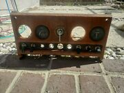 Jaguar Mark X 10 Dashboard Center Console With Gauges And Switches Wood