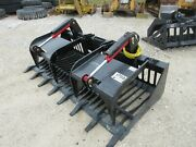New 80 Hd Log Root Brush Grapple Bucket 2 Cylinder Usa Made Attachment Rock