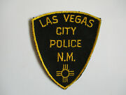 Vintage Las Vegas City Nm New Mexico Cut Edge Cotton Twill Usa Made Police Patch