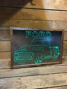 Old Truck Light Up Sign Tractor Ford Chevy Dodge Gmc F100 F150 Pickup Farm Led 2