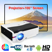 8000lumen Hd Android Projector Home Theater Wireless Wifi Video Game Movie Hdmi
