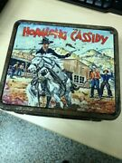 Vintage 1954 Hopalong Cassidy Metal Lunch Box By Aladdin