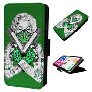 Marilyn Monroe Guns - Flip Phone Case Wallet Cover - Fits Iphones And Samsung