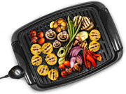 Portable Electric Grill Bbq Indoor Outdoor Smokeless Griddle Compact Barbecue Us