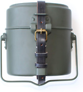Wwii Ww2 Collectibles German M31 Mess Tin With Leather Strap Dinner Box Durable