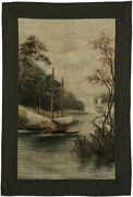 3 X 5 Antique Chinese Silk Embroidered Tapestry