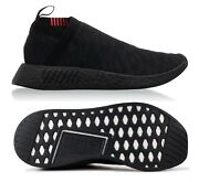 New Adidas Nmd_cs2 Pk Menand039s Shoes Core Black/carbon/shock Pink Cq2373 Size