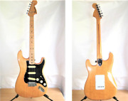 Rare fernandes By Burny Fst-60 Natural Vintage Electric Guitar Japan Shipped