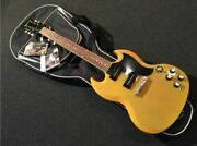Limited Edition Epiphone 1961 Sg-special Tv Yellow Electric Guitar W/ Soft Case