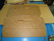 New Pair Of Door Panels For Mgb 1978-80 Beige Champagne Made In The Uk