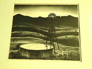 Peter Hurd Stone Lithograph Stock Well At Dusk Iconic Print