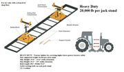 Heavy Duty Tractor Separator Tool With Rails - 20000 Lbs Per Jack Stand