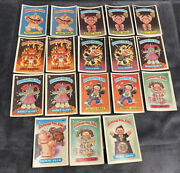 1985 Topps Garbage Pail Kids-variation Lot-of-18a And Brare