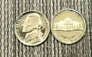 1988 P D S Jefferson Nickel +p D Tokens In Mint Cello And Cam Proof 5 Coin Set