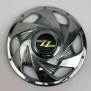 Vintage Plastic Zz Wheelz Hubcap With Black And Gold Logo