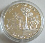 Tokelau 5 Tala 1994 Protect Our World Forest Silver