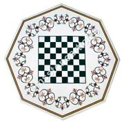 51 White Chess Marble Table Top Handmade Traditional Collectible Gifts Decor