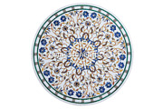 51 Marble Dining Table Top Lapis Floral Marquetry Multi Inlay Home Decorative