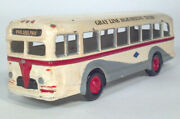 1940s White Coach Gray Line Sightseeing Brass Cast Scale Model City Transit Bus