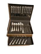 Gorham English Gadroon Sterling Silver Flatware Set For 6 Service 58 Pcs Extras