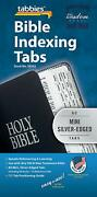 Tabbies Mini Silver Edged Bible Indexing Tabs Old And New Testament Best 80 Tabs