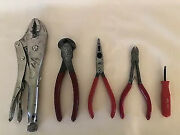 5 Mac Tools End Cutting Nippers Vice Grip Locking And Long Nosed Pliers Wire Snips