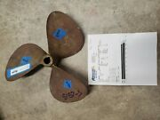 Bronze Rh 16 X 16p Federal Equi-poise Propeller 1 1/4 Bore Scanned 3485