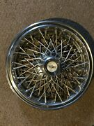 15 Used Wire-spoke Wheel Cover W/chevrolet Caps For Caprice Price Reduced-