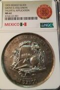 1903 Mexico Silver Grove S-103a Union Talent And Application Ngc Ms 62 Top Pop