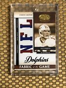 2008 Donruss Certified Materials Dan Marino Fabric Of The Game Sp 16/25 Patch