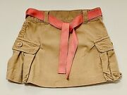 Janie And Jack Soda Fountain Solid Tan Corduroy Pleated Skirt, 2t
