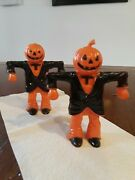 Antique Halloween Pumpkin Candy Containers