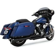 Vance And Hines - 47583 - Pro Pipe Exhaust System, Black Harley Road King Efi Flhr