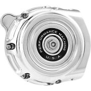 Performance Machine - 0206-2131-ch - Vintage Air Cleaner Chrome Harley Electra