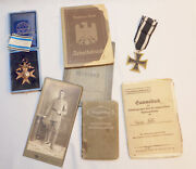 Ww1 Imperial German Bavarian Military Merit And Iron Cross Fully Idand039d With Photos