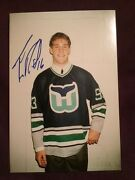 Trevor Roenick Whalers Draft Pick Autographed Signed Candid Draft Photo