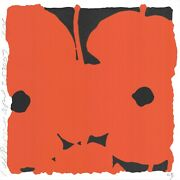 Donald Sultan And039red Poppiesand039 Signed Limited Edition Silkscreen Print W/ Flocking