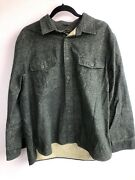 D107 Freedom Foundry Mens Chamois Heathered Thick Flannel Warm Shirt Large Green