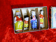 Rare 1930's Comic Moon Mullins 4 Figures Boxed Set - Made In Japan