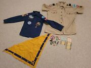 1950s Vintage Scout Lot Patches Shirts Camillus Knife Toothbrush Boy Girl Button
